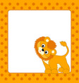 card template with lion cub vector image vector image