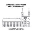 carolingian westwork and civitas corvey germany vector image vector image