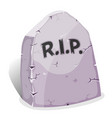 cartoon tombstone with rip vector image vector image