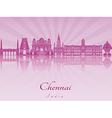 Chennai skyline in purple radiant orchid vector image vector image