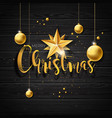 Christmas with typography and