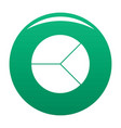 circle graph icon green vector image vector image