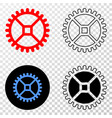 clock gear eps icon with contour version vector image
