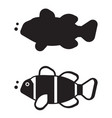 clown fish outline icon or logo vector image vector image