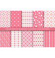 collection seamless geometric patterns with vector image
