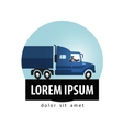 delivery logo design template truck vector image