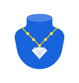 diamond necklace jewelry related icon flat design vector image