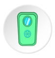 Door of safe icon cartoon style vector image vector image
