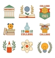 Education and College Set of Icons vector image