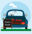 fast delivery of fresh vegetables eco food vector image vector image