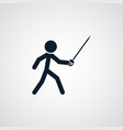 fencer icon simple sportsman element fencing vector image