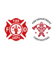 fire department logo vector image vector image
