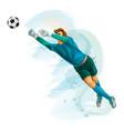 football goalkeeper jumps for ball splash vector image vector image