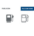 fuel icon fill and line flat design ui vector image