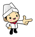 funny cook character guide gestures isolated on vector image vector image