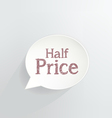 Half Price vector image vector image