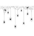 halloween spiders background black spiders vector image