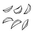 hand drawn of potato wedges vector image vector image