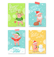 happy holidays new year symbol christmas piglet vector image vector image