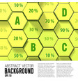honeycomb geometric business infographics vector image vector image