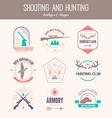 Hunting Logos vector image vector image