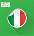 italy sticker flag icon business concept italy vector image