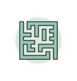 Labyrinth colorful icon vector image vector image