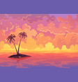 landscape banner evening or morning view sunset vector image vector image
