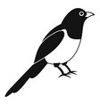 magpie bird icon simple style vector image