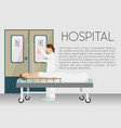 man in hospital on drip banner vector image vector image