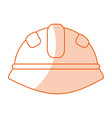monocromatic helmet design vector image vector image