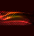 neon square shapes lines on glowing light vector image vector image