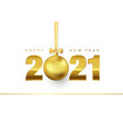 new year poster with greeting text golden vector image