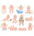 newborn baby infant cute boy or girl babies vector image vector image