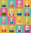 old people faces women and men grey vector image vector image