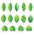 paper leaf with shadow sticker on white background vector image