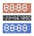 paper numbers with digital clock display vector image vector image
