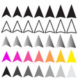 paper plane icon collection vector image