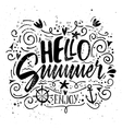 Print for T-shirt Hello summer vector image
