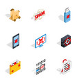 protection and security icons isometric 3d style vector image vector image