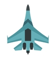 Quick military aircraft icon flat style vector image vector image