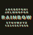 rainbow vintage alphabet vector image vector image