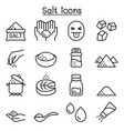 salt icon set in thin line style vector image vector image