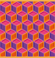 seamless colorful isometric cube pattern vector image vector image