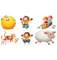 set different nursery rhyme character isolated vector image vector image
