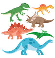 Set of cheerful dinosaurs