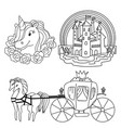 set of fairy tale symbols and objects vector image