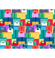 Shop Concept Seamless Pattern vector image
