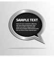 Silver speech bubble on dark background vector image vector image