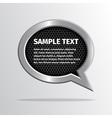 Silver speech bubble on dark background vector image